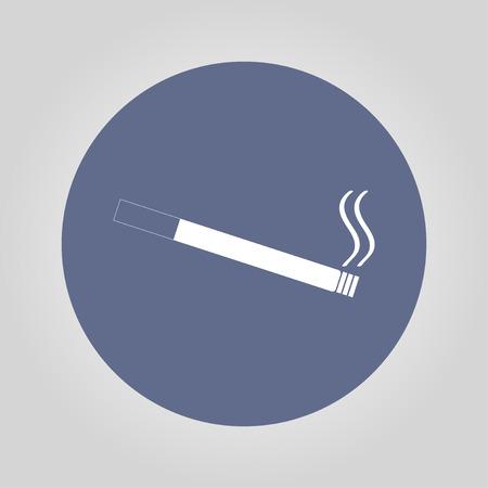 vice: Cigarette icon. Flat design style. Illustration