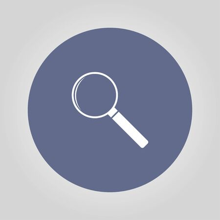 circumference: magnifier - vector icon. Flat design style eps 10 Illustration