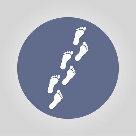 childishly: Feet prints. Flat design style