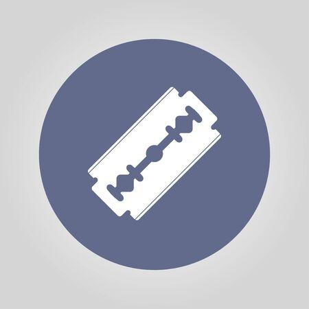 blade: Blade razor icon. Flat design style