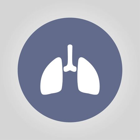 bronchiole: lungs icon. Flat design style