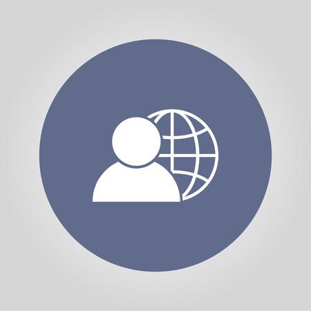 affiliation: global business, business man icon, vector illustration. Flat design style Illustration