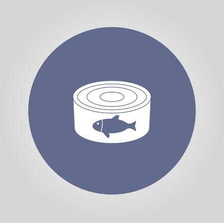 lattine - cibo in scatola. Illustrazione vettoriale concetto per il design. Vettoriali