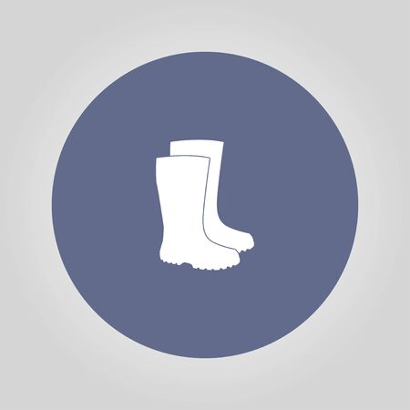 garment label: Boot vector icon. Concept illustration for design.
