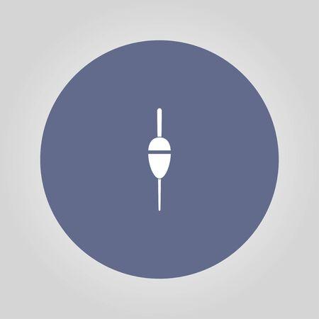 bobber: Fishing sign icon. Float bobber symbol. Concept illustration for design.