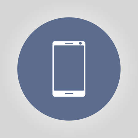 smartphone icon: smartphone icon, vector illustration flat Illustration