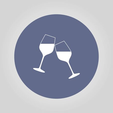 winetasting: Wine glass icon. Flat design style