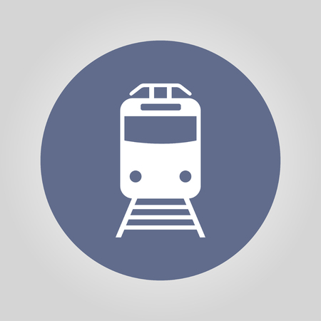 locomotion: Train icon, isolated vector  illustration Illustration