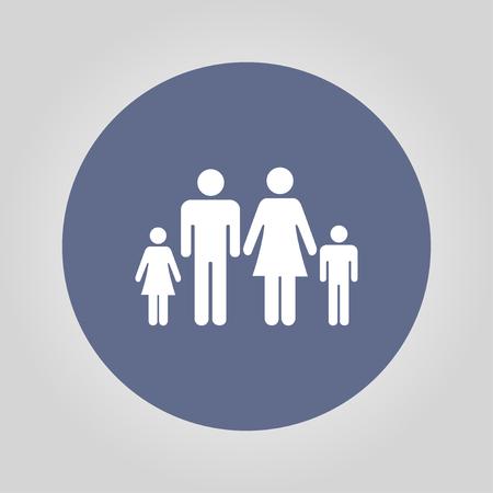 socialize: family icon. Flat design style