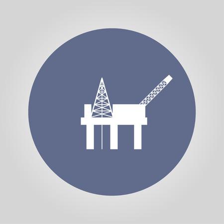 unstable: Oil platform icon. Flat design style eps 10