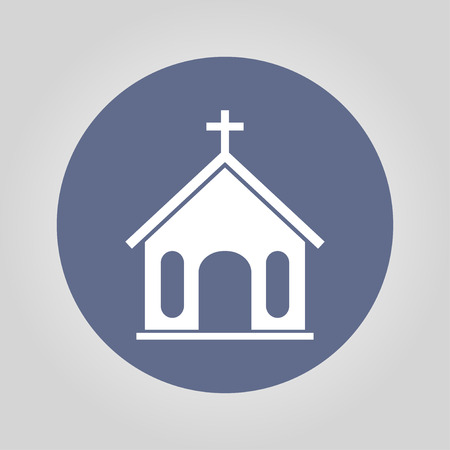 bible altar: church icon. Flat design style eps 10