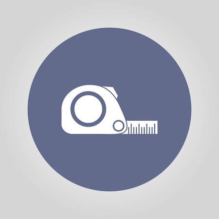 simbol: Misura di nastro icona. Roulette di costruzione simbolo. Piatto