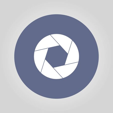 and aperture: aperture icon. Flat design style eps 10