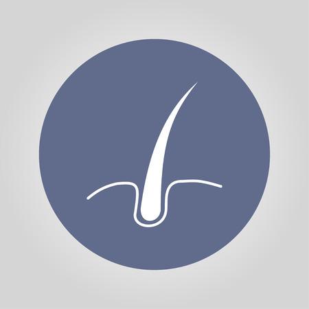 dandruff: hair icon. Flat design style eps 10