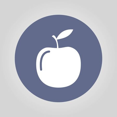 ripened: apple - vector icon. Flat design style EPS Illustration
