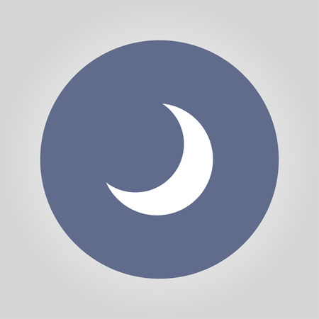 maan vector icon, Flat design stijl EPS