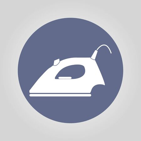 steam iron: Steam iron icon. Flat design style EPS