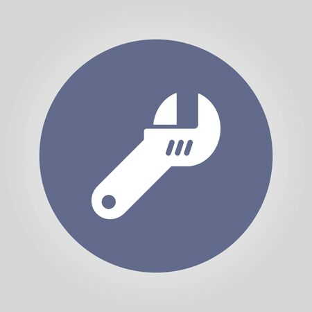 fitter: wrench icon. Flat design style eps 10 Illustration