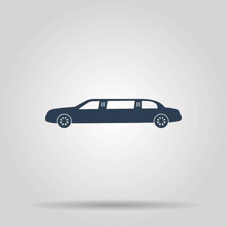 limousine: Limousine icon. Vector concept illustration for design