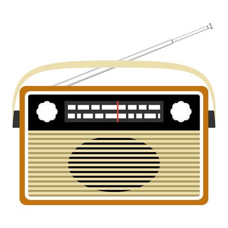 shortwave: Radio retro. Vector concept illustration for design. Illustration
