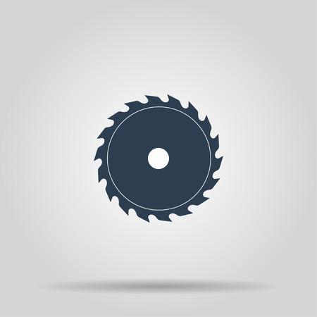 Cirkelzaagblad. Concept illustratie voor het ontwerp.