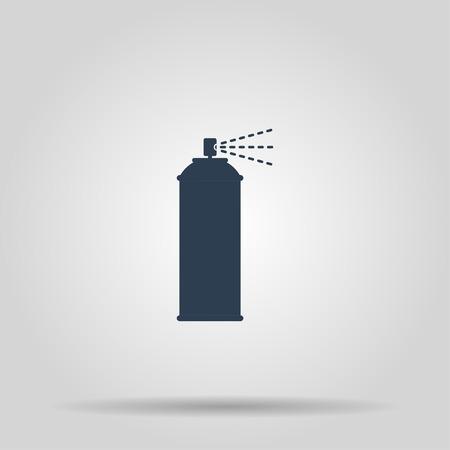 compressed gas: Spray icon. Vector concept illustration for design.