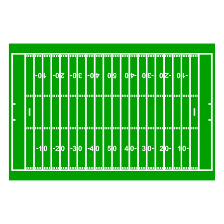 grass texture: American Football Field with Line and Grass Texture, vector illustration