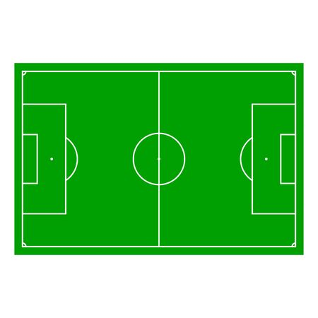 gridiron: Soccer field with Line and Grass Texture, vector illustration