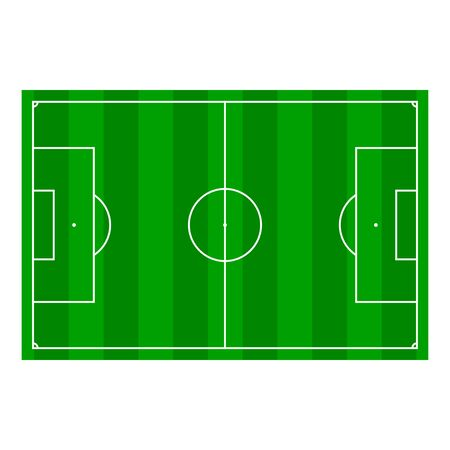 ruling: Soccer field with Line and Grass Texture, vector illustration