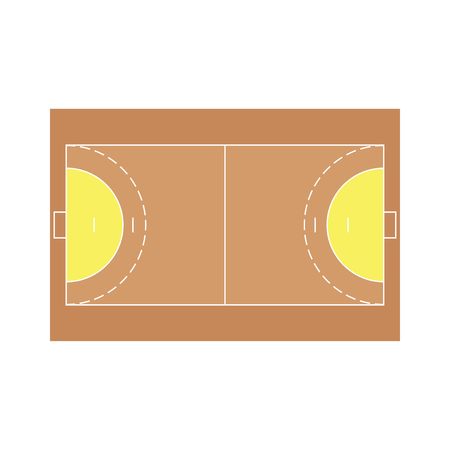 terrain de handball: illustration d�taill�e d'un champ de handball, vecteur eps10