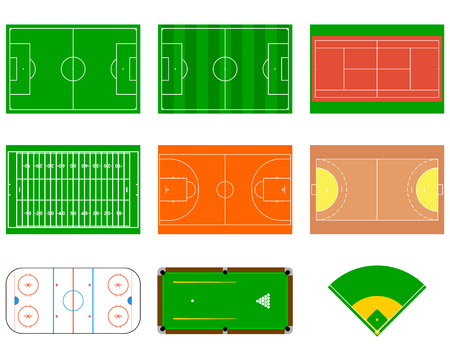 Sport courts and fields. Can be used for demonstration, education, strategic planning and other proposes. Illustration