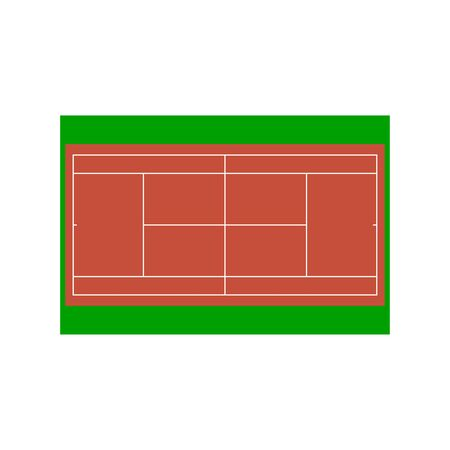indoor court: Tennis court. Vector illustration for design. EPS