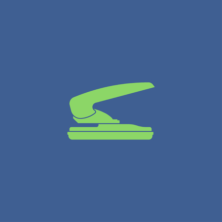 hole in paper: two hole paper puncher icon, vector illustration Illustration
