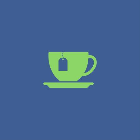 ceylon: cup with tea bag . Flat design style eps 10