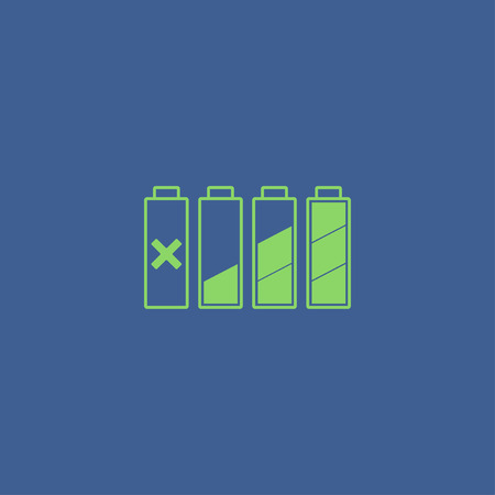 charge: Set of battery charge level indicators. Vector illustration. Illustration