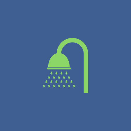 douche: Shower icon. Flat design style eps 10