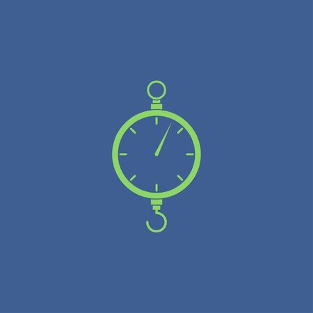 acquittal: scales icon. Flat vector design style EPS
