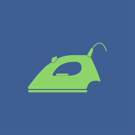 iron: Steam iron icon. Flat design style EPS