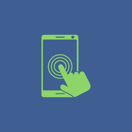multitouch: Touch screen smartphone icon. Flat design style Illustration