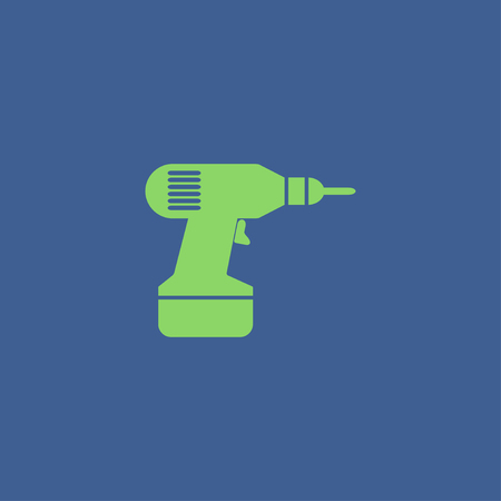 cordless: screwdriver. vector icon. Flat design style eps 10