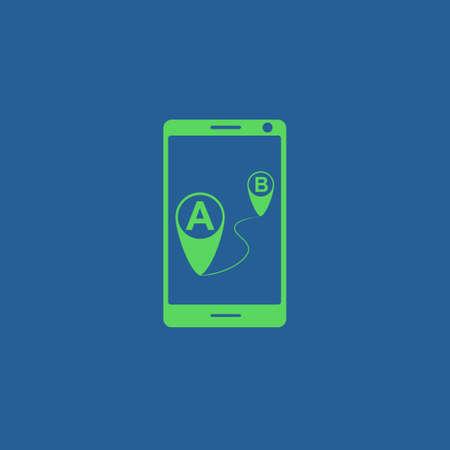 gps device: gps smartphoner icon. Flat design style eps 10 Illustration