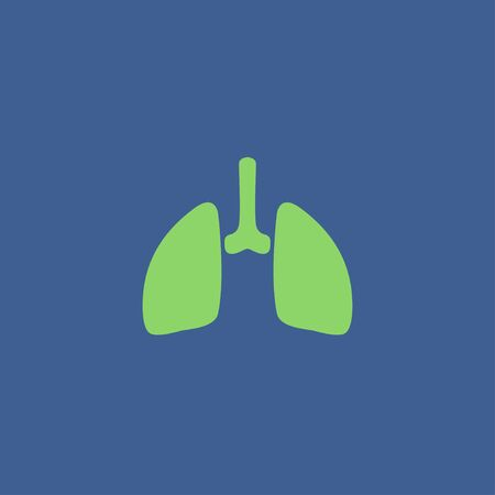 respiration: lungs icon. Flat design style eps 10