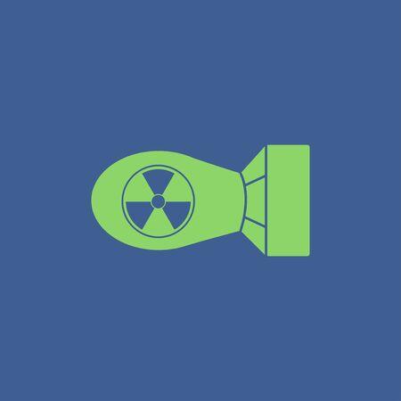 bombe atomique: L'icône de la bombe atomique. Appartement style design eps 10 Illustration