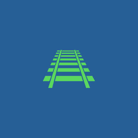 locomotion: Railroad icon. Modern design flat style EPS Illustration
