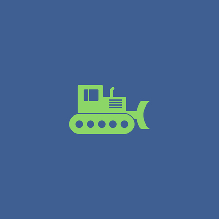 dredger: Excavator icon. Vector concept illustration for design.