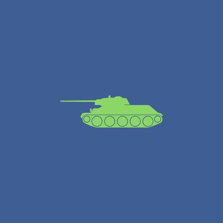 battlefield: Tank icon. Vector concept illustration for design. Illustration