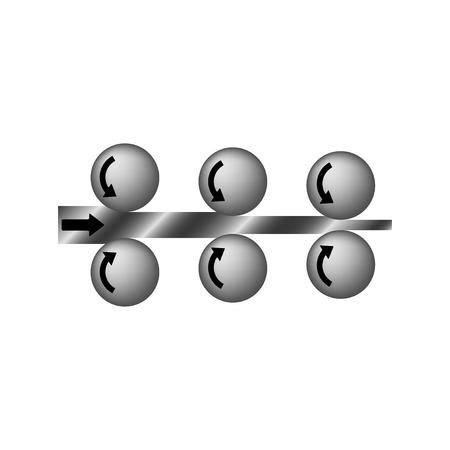 metal pipe: rolled steel. Rolled metal vector pictograms. Metal construction, steel metal industry, iron metal material, product metal pipe, metallurgy metal icon illustration