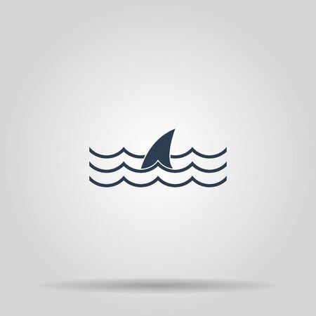 shark fin: shark fin icon. shark fin. Concept illustration for design.