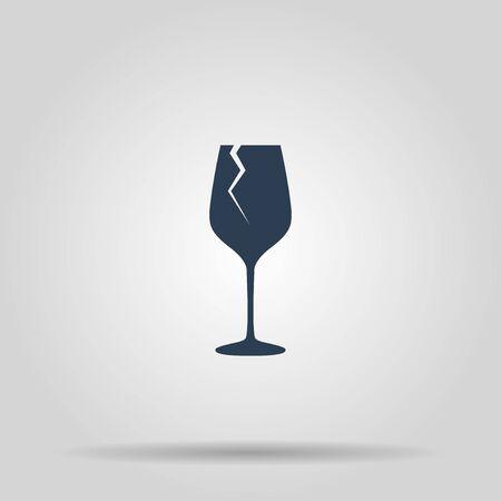 winetasting: Wine glass icon. Concept illustration for design.