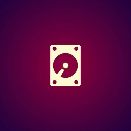 hard disk icon. Flat design style eps 10 Illustration